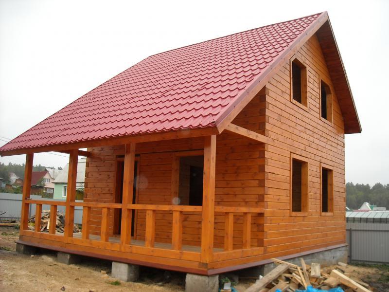 Полуторный дом из бруса